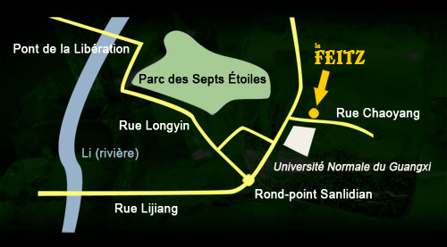 Plan, Le Feitz, Pub irlandais, Guilin, Chine